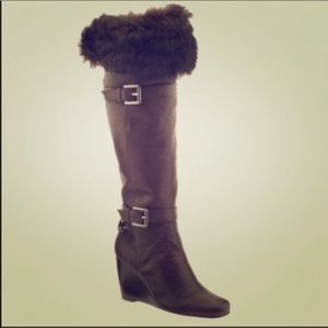NEW Michael Kors Brown Fur Boots size 7.5
